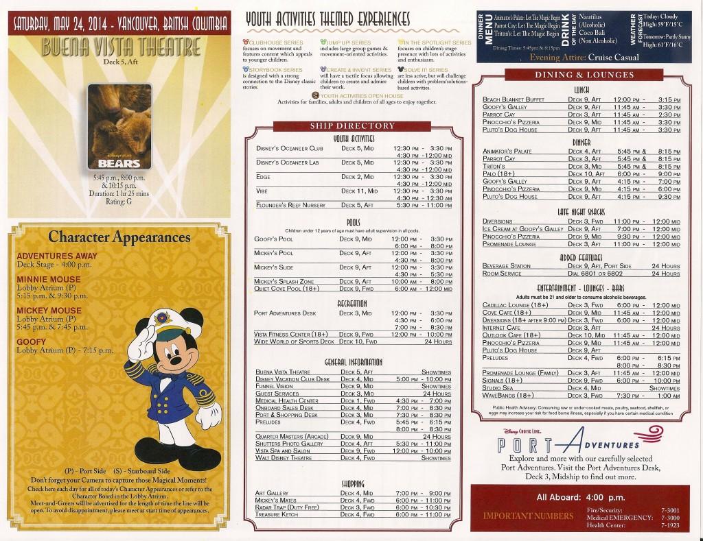 Disney Alaska Cruise Personal Navigator | Day 1: Vancouver | Disney Cruise Line