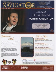 Personal Navigator, Alaska Cruise May 24, 2014   Disney Cruise Line